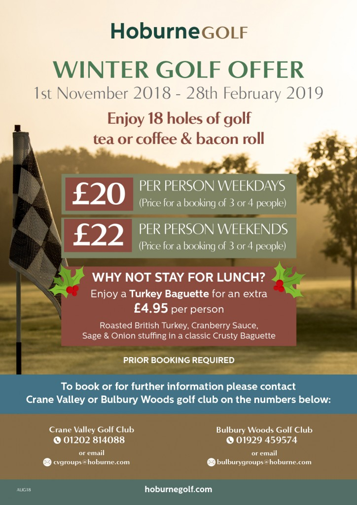 CV-BW Winter Golf Offer 2018-2019